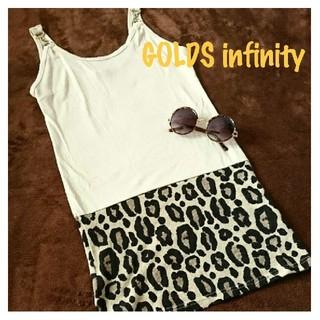 ゴールズインフィニティ(GOLDS infinity)の◆GOLDS infinity◆ミニワンピ/ダチュラ デイライル ノアール系(ミニワンピース)