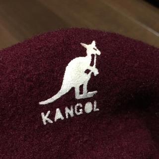 カンゴール(KANGOL)のカンゴール ベレー帽 バーガンディ イギリス製(ハンチング/ベレー帽)