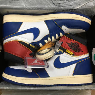 NIKE - 27.5cm UNION x NIKE AIR JORDAN1 ブルー 国内正規