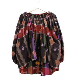 キャピタル(KAPITAL)のKAPITAL ノーカラー刺繍ワイドジャケット(ノーカラージャケット)