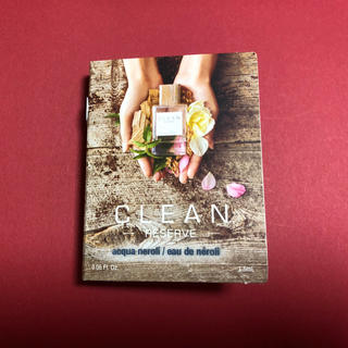 クリーン(CLEAN)のクリーン リザーブ アクアネロリ オードパルファム サンプル 1.5ml(香水(女性用))