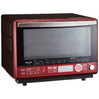 シャープ 過熱水蒸気オーブンレンジ 2段調理 31L レッド (電子レンジ)