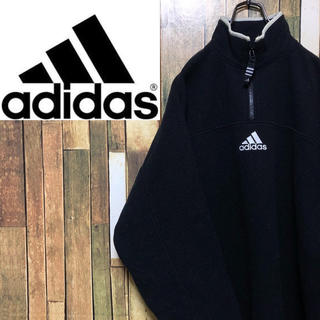 adidas - 【激レア】アディダス☆パフォーマンス刺繍ロゴ入りハーフジップフリース 90s