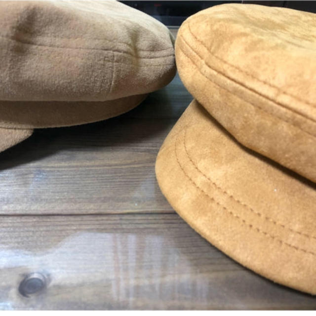 Ungrid(アングリッド)のungrid 新品タグ付き 未使用 フェイクスウェードマリンキャップ レディースの帽子(キャスケット)の商品写真