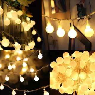 イルミネーション LEDライト 点灯3パターン 乾電池式 防水 3m30球 (蛍光灯/電球)