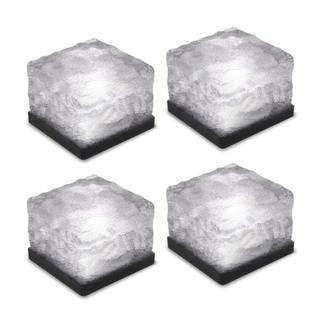 残り僅か!四個入り LEDライト ソーラー 充電式 電源不要(ホワイト)(蛍光灯/電球)