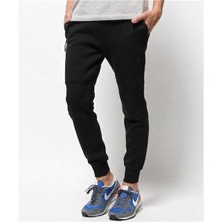 ジーユー(GU)のGU メンズ ジョガーパンツ 黒 美品 Mサイズ(ワークパンツ/カーゴパンツ)