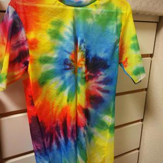 スピンズ(SPINNS)のカラフルレインボー メッシュ Tシャツ(Tシャツ(半袖/袖なし))