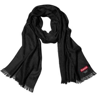 シュプリーム(Supreme)のsupreme fuck scarf 黒 スカーフ マフラー(バンダナ/スカーフ)