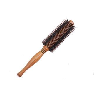 天然ロールブラシ 豚毛 耐熱仕様 ブロー カール 巻き髪 (ヘアブラシ)
