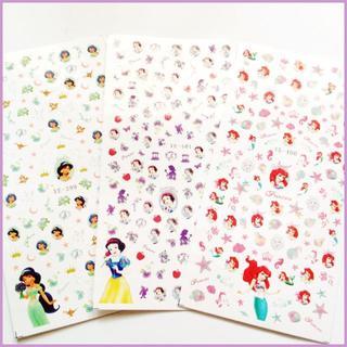 プリンセス ネイル シール 【3枚セット♡新品】ステッカー ディズニー(ネイル用品)