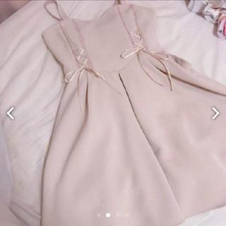 Secret Honey - シークレットハニー レースアップフリル ジャンパースカート