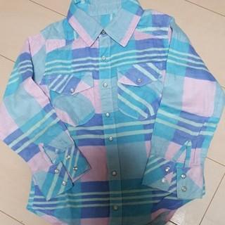 美品 キッズ シャツ 130 チェック(ブラウス)
