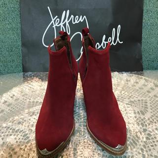 ジェフリーキャンベル(JEFFREY CAMPBELL)のジェフリーキャンベル レッドブーツ美品⭐️(ブーツ)