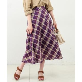 ナチュラルクチュール(natural couture)のナチュラルクチュール チェック ロングスカート(ロングスカート)