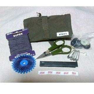 ニーム(NIMES)のNIMES  ニームズ  携帯裁縫セット  おまけ アンティーク調リネン糸2個(各種パーツ)