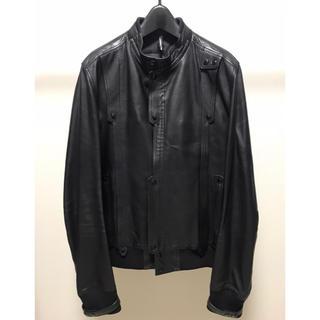 ディオールオム(DIOR HOMME)のDior homme leather jacket   XL(レザージャケット)