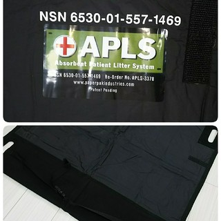 新品!APLS Medic Portable 簡易担架 ブラック 米軍放出品(その他)