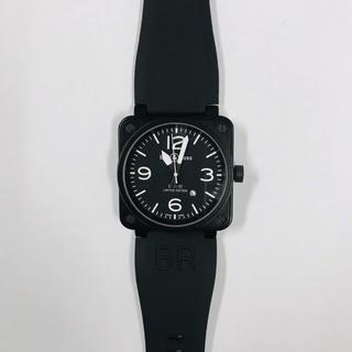 メンズ 腕時計 ミリタリー仕様 自動巻 ブラック BR