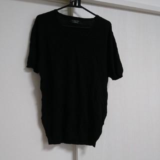ザラ(ZARA)のZARA MAN ニット 半袖 L(Tシャツ/カットソー(半袖/袖なし))