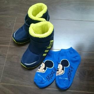アディダス(adidas)の週末sale【USED】adidas ベビースノーブーツ 14.5㎝&ソックス(ブーツ)