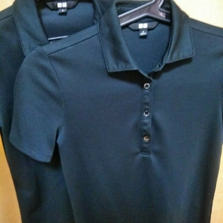 ユニクロ(UNIQLO)のユニクロポロシャツ黒2枚(ポロシャツ)