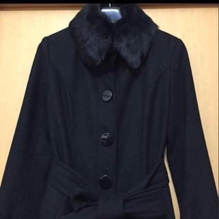 イング(ing)のINGNI ウールコート 衿取り外しファー付き(ロングコート)