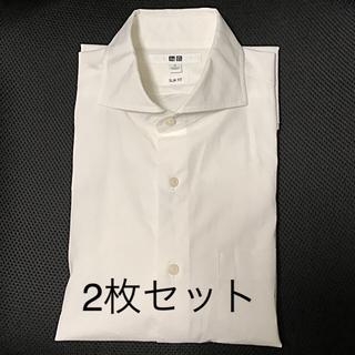 ユニクロ(UNIQLO)のUNIQLO ストレッチファインクロスワイドカラーシャツ S セミオーダー袖長(シャツ)
