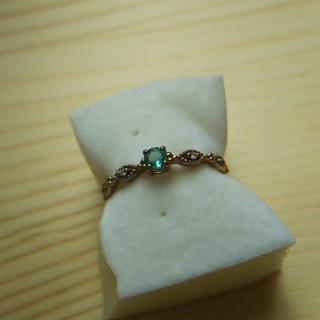 ジュエリーツツミ(JEWELRY TSUTSUMI)のエメラルド リング 指輪 k10(リング(指輪))