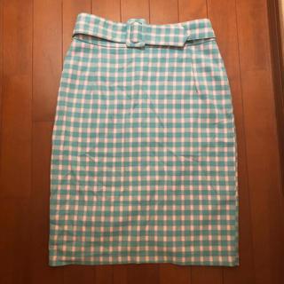 メリージェニー(merry jenny)のmerry jenny チェックベルトスカート(ひざ丈スカート)