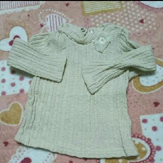 キムラタン(キムラタン)のリリーアイボリー☆長袖 カットソー Tシャツ タートルネック(Tシャツ/カットソー)
