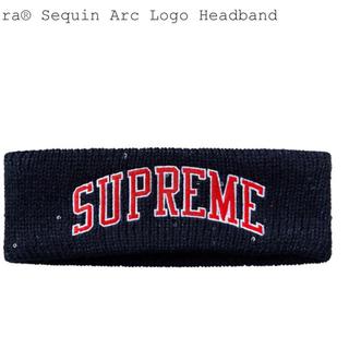 Supreme - 18fwNew Era Sequin Arc Logo Headband 紺色