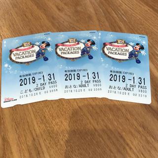 ディズニー(Disney)のリゾートライン 2デーパス(鉄道乗車券)