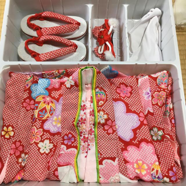 【美品】3歳 七五三 着物セット キッズ/ベビー/マタニティのキッズ服 女の子用(90cm~)(和服/着物)の商品写真