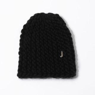 トゥモローランド(TOMORROWLAND)のMuhlbauer ニットキャップ 黒【新品】(ニット帽/ビーニー)