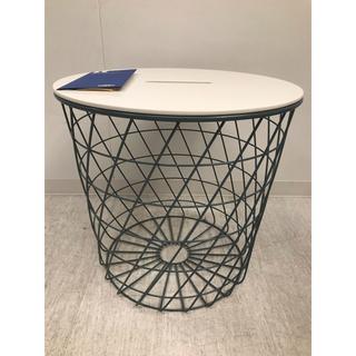 イケア(IKEA)のKVISTBRO クヴィストブロー 収納テーブル, ターコイズ, 44 cm(その他)