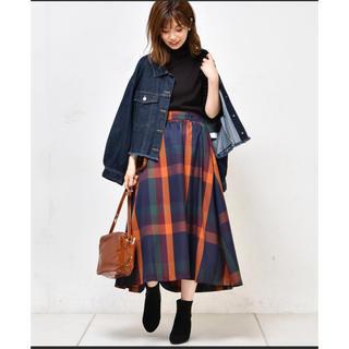 ナチュラルクチュール(natural couture)のnatural couture BIGチェックフレアスカート(ひざ丈スカート)