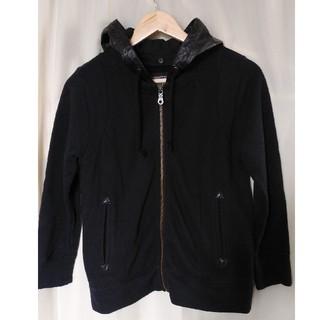 サイラス(SILAS)のSILAS サイラス 革×綿 パーカー ジャケット M 黒(その他)