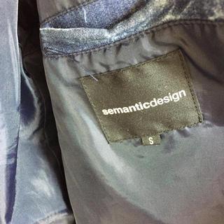 セマンティックデザイン(semantic design)のデニムダウン(ダウンジャケット)