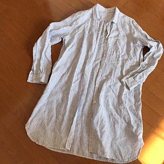 ムジルシリョウヒン(MUJI (無印良品))の美品☆無印のロングシャツ羽織に^ ^XL(ひざ丈ワンピース)