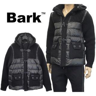 バーク(BARK)のバーク bark  ダウン ニット ダッフル コート ブラック 美品 送料込(ダッフルコート)