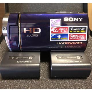 ソニー(SONY)の激安❣️【値下げ❗️】 SONYハンディカメラ★バッテリー2本付(ビデオカメラ)