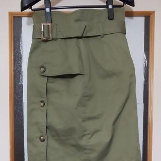 ダズリン dazzlin スカート カラー グリーン サイズ M