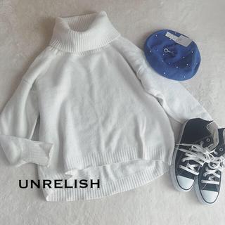 アンレリッシュ(UNRELISH)のUNRELISH★オフタートルニット(ニット/セーター)