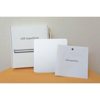 マック(Mac (Apple))のApple USB SuperDrive MD564ZM/A 極美品 (PC周辺機器)