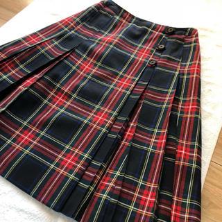 ジェイプレス(J.PRESS)のJ.PRESS ジェイプレス チェックスカート 11号(ひざ丈スカート)