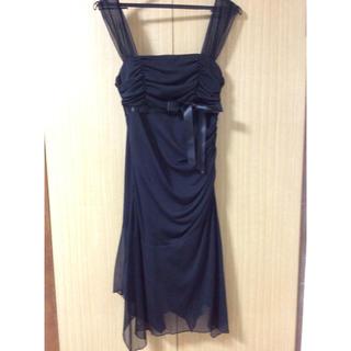 キスキス(XOXO)の結婚式用 XOXO黒のドレス(ミニドレス)