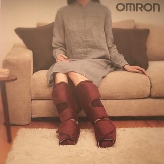 オムロン(OMRON)のオムロン omron フットエアマッサージャー ワインレッド(マッサージ機)