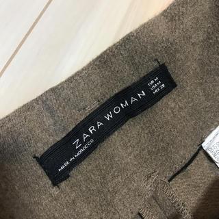 ZARA ハイウエストブラウンパンツ