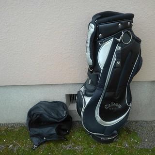 キャロウェイゴルフ(Callaway Golf)のキャロウェイ 軽量キャディバッグ ゴルフバッグ ゴルフケース 黒×白(バッグ)